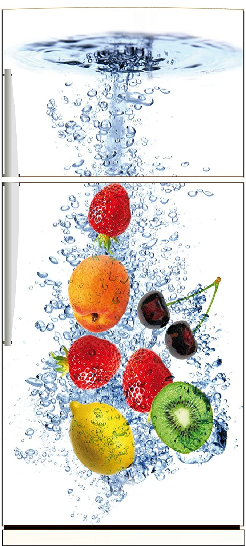 Fond Blanc Sticker autocollant frigo Fruits 70x170cm SAEFR1095