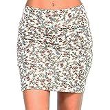 5b6528825b TheMogan Basic Sexy Stretch Knit High Waisted Bodycon Mini Skirt at ...