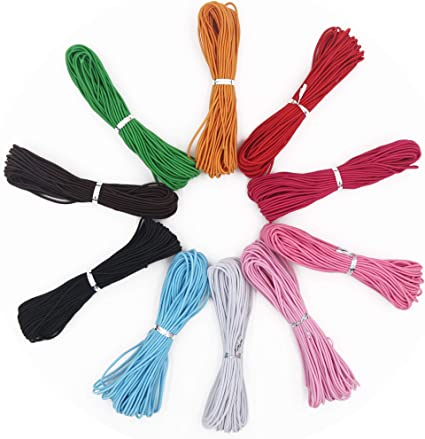 10 Colors,110 Yards EuTengHao 1mm Nylon Elastic String for Bracelet Satin Nylon Decorative Cord Nylon Hand Knitting Cord String Beading Thread Bracelet String for Necklace Bracelet Jewelry Making