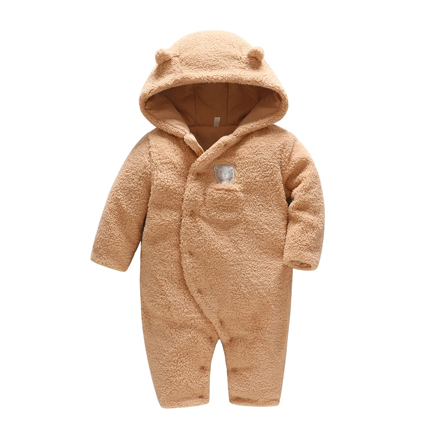 823a5ced06fb Babies Newborn baby clothes bear onesie baby girl boy rompers hooded ...