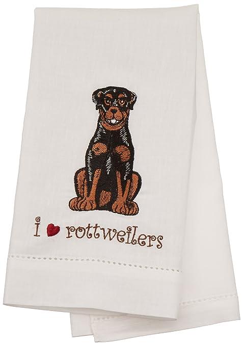 Rescue Me Ahora Rottweiler Toalla de té, 11 por 17,8 cm, Bordado