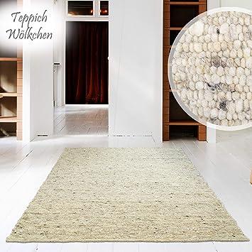 Amazon.de: Hand-Web-Teppich   Reine Schur-Wolle im Skandinavischen ...