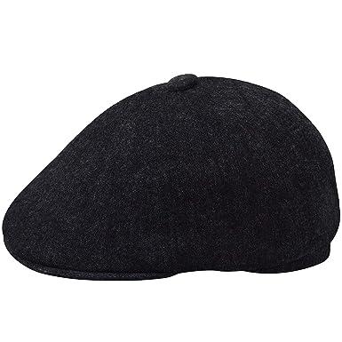 e84846ab9dee Kangol Men's Quilted Denim Hawker Flat Newsboy Cap Hat at Amazon ...