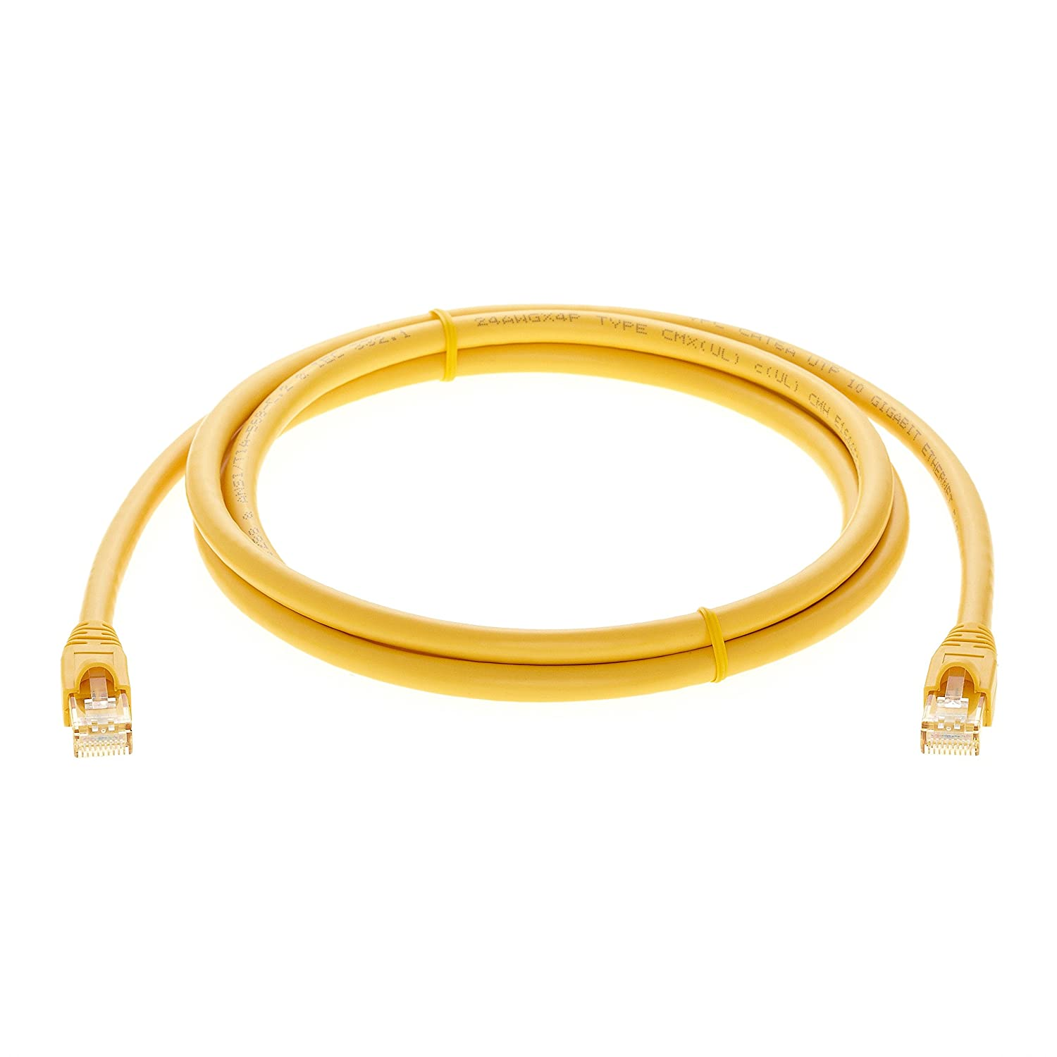 Professional Series 550MHZ 4936 InstallerParts Ethernet Cable CAT6A Cable UTP Booted 7 FT Yellow 10Gigabit//Sec Network//High Speed Internet Cable