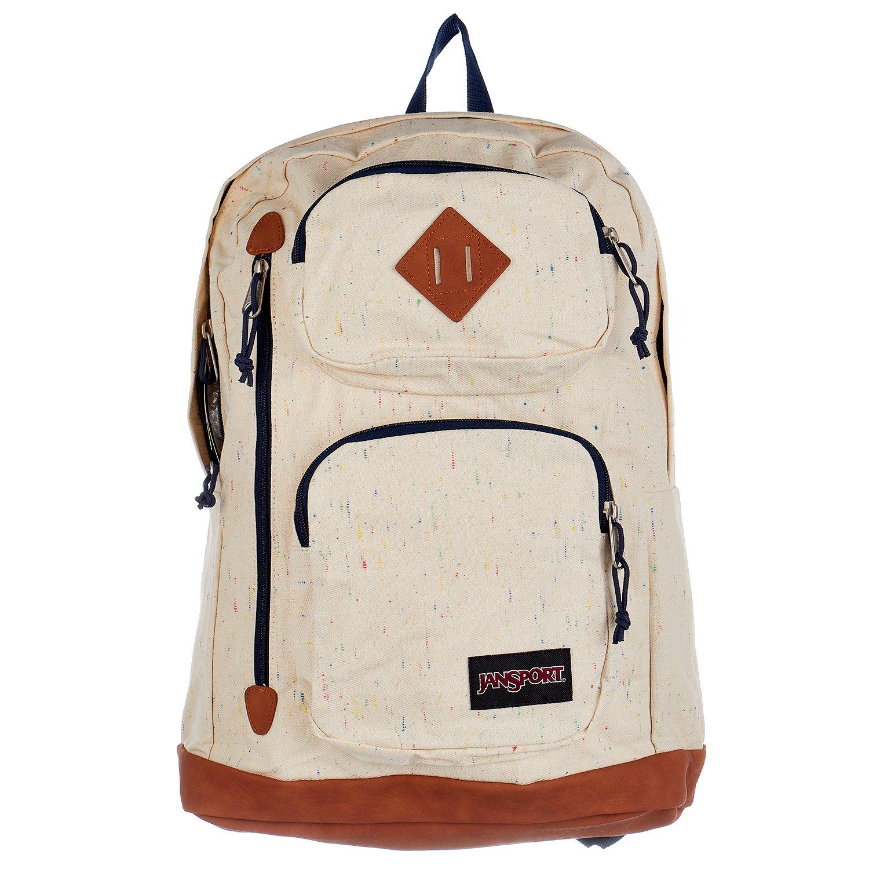 JanSport Unisex Houston Natural Speckled Canvas Backpack