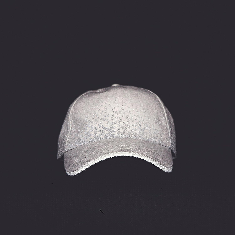 MUN Gear White Reflective Running Hat Triangle Women Men Adult Athletic