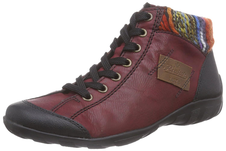 Rieker L6540 Zapatillas Altas de Deporte, para Mujer 37 EU Multicolor (Schwarz/Wine/Orange-multi/Mogano/00)