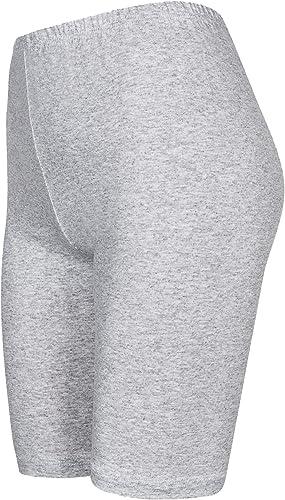 DeDavide Shorts Baseball en Coton Longueur Genou pour Filles 16 diff/érentes Couleurs
