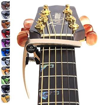 Nordell Pro Trigger - gatillo para guitarra/ukelele Acústica/eléctrica, de liberación y cambio rápido, dorado: Amazon.es: Instrumentos musicales