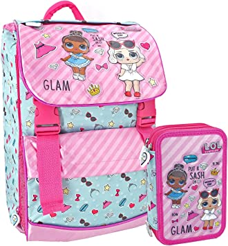 LOL SURPRISE - School Pack mochila + estuche triple completo 44 piezas - Escuela 2019/2020: Amazon.es: Equipaje