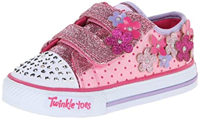 Skechers Kids 10472N Pretty Blossoms LightUp Sneaker ToddlerLittle Kid