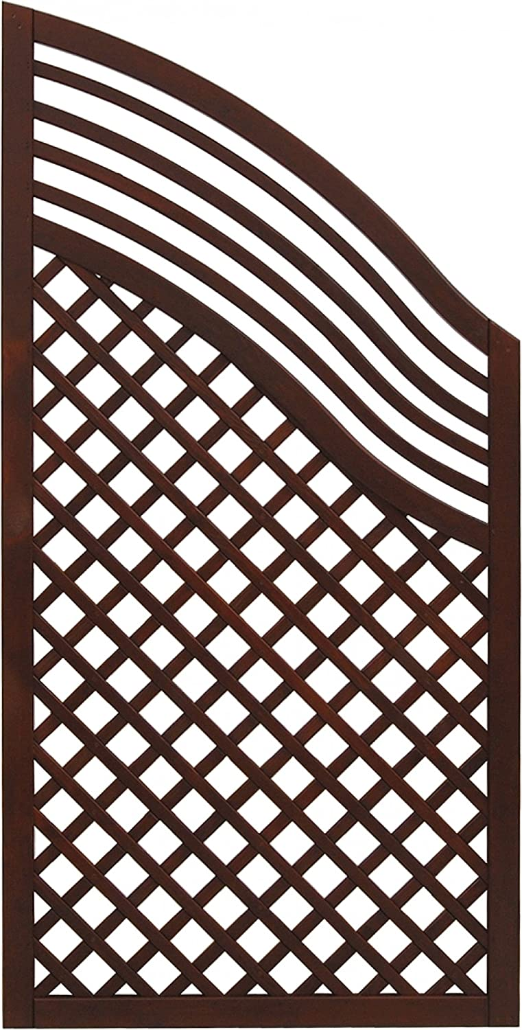 Andrewex wooden fence, privacy, garden fence, fencing panel 120 180 x 90, varnished, brown