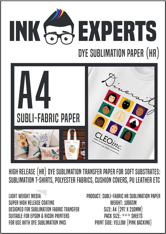 colores vibrantes secado rápido 100GSM tamaño de A3 4 X 100 metros papel de sublimación de tinta
