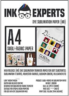 Papel de sublimaci/ón multiusos 100 Sheets Ink Experts Subli-Versa 115 g//m/²