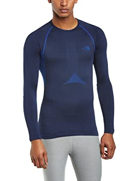 Image Unavailable. Image not available for. Colour  North Face Hybrid L S  Crew Neck Base Layer Top Small Medium Cosmic Blue 56188b4f2