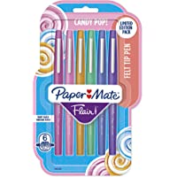 Paper Mate Flair Felt Tip Pens, Medium Point (0.7mm), Limited Edition Candy Pop Pack, 6 Count