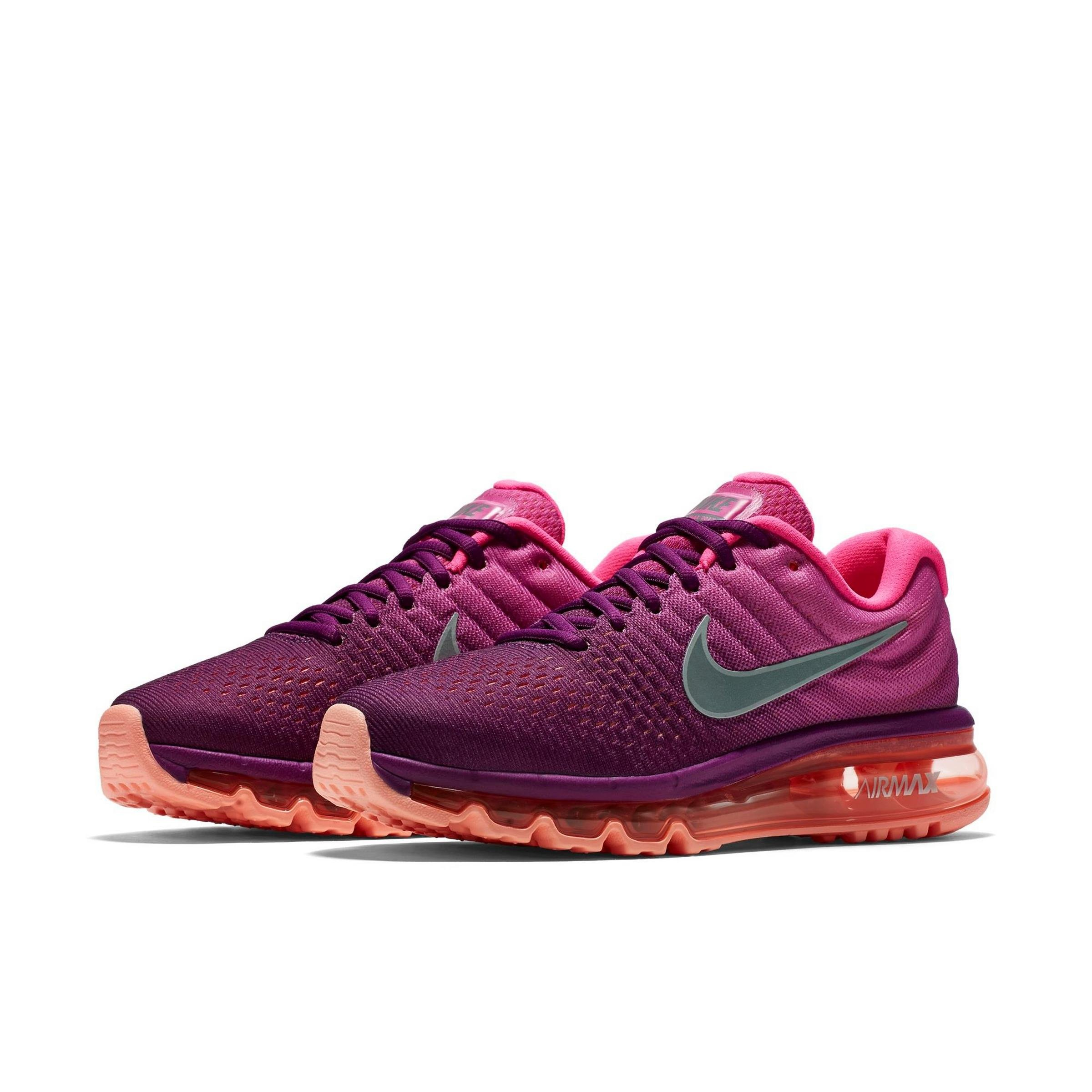 huge selection of 13844 25bb4 Galleon - Nike Womens Air Max 2017 Running Shoes Bright Grape White Pink  Fire 849560-502 Size 8