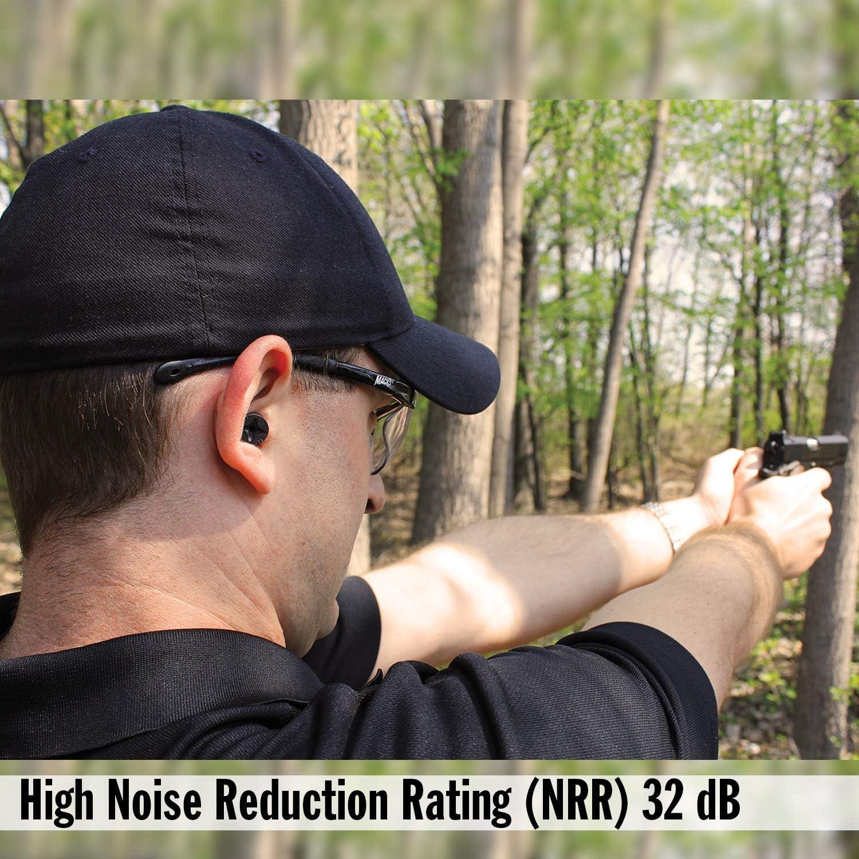 Tactical Comfortable Earplugs for Hunting 32 dB High NRR Macks Covert Ops Soft Foam Shooting Ear Plugs Target Skeet and Trap Shooting