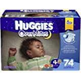 Huggies Overnite Diapers, Step 4, Giga Pack, 74-Count