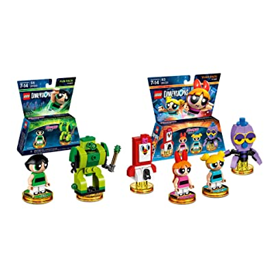 Lego Dimensions Powerpuff Girls Bundle of 2 - Powerpuff Girls Team Pack (71346) & Powerpuff Girls Fun Pack (71343): Video Games