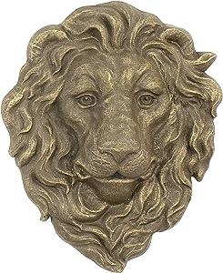 Cast Iron Lion Head Hanging Garden Plaque