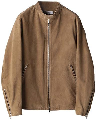 Goat Suede Motorcycle Jacket 1225-199-8634: Beige