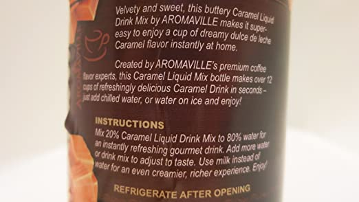 Amazon.com : Caramel Cappuccino Liquid Drink Mix (Pack of 3 16 Oz Each) : Grocery & Gourmet Food