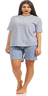 Damen Shorty Pyjama kurz auch in Übergrössen bis Grösse 60//62-191 205 90 838