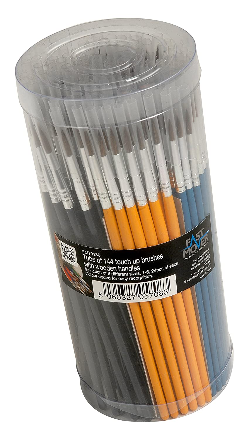 10 x Touch Up Paint Brushes Assorted Sizes