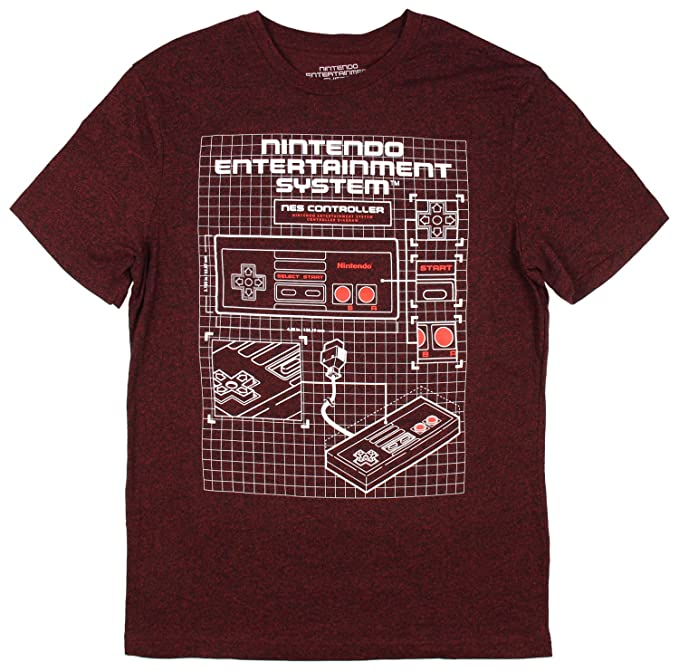 NES Nintendo Entertainment System Controller Diagram Licensed T-Shirt on