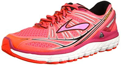 Women's Brooks Transcend Running Shoe (6, Diva Pink/Festival Fuschia/Black)