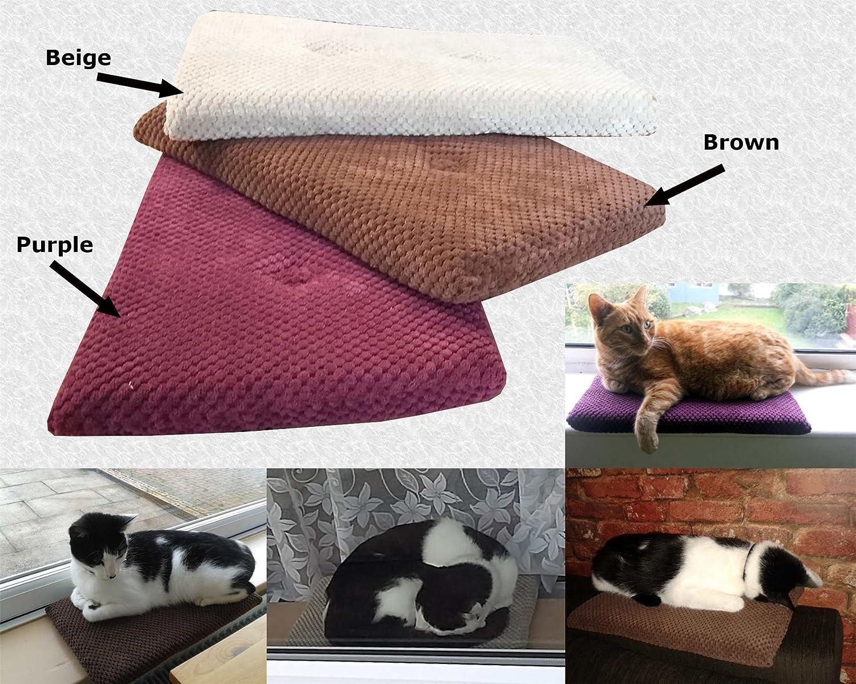 3 x Grey Handmade Cat Kitten Spot Pet Window Cushion Pillow Mat Resting Pad Seat Sleeping Bed Warm