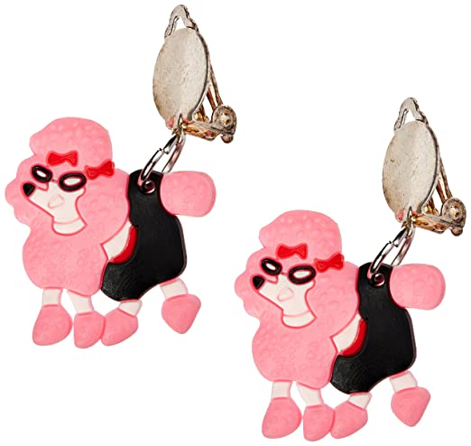 50s Jewelry: Earrings, Necklace, Brooch, Bracelet Forum Novelties 62236 Pink Poodle Earrings $5.90 AT vintagedancer.com
