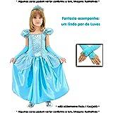 Fantasia Infantil Princesa Cinderela com Luvas