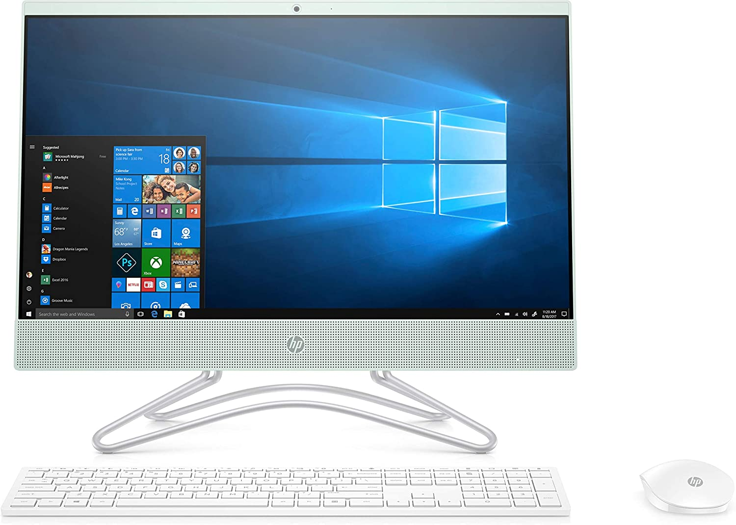 2019 New HP 22-inch FHD All-in-One Computer, Intel Celeron G4900, 4GB RAM, 1TB Hard Drive, Windows 10