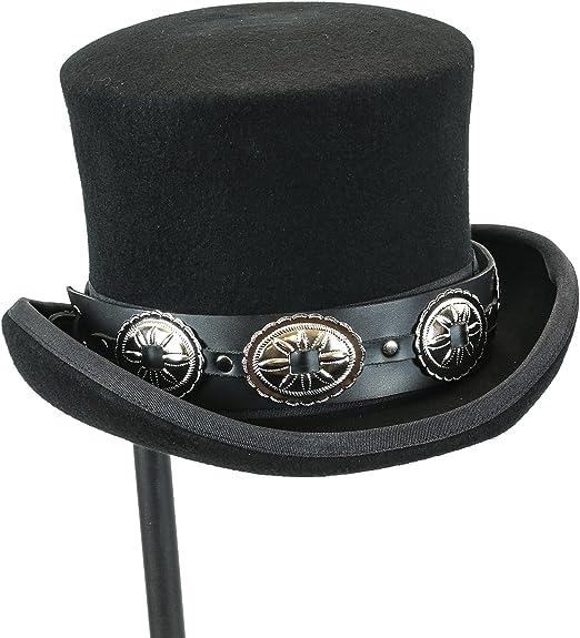 Negro negro Medium Sombrero de copa 100/% lana