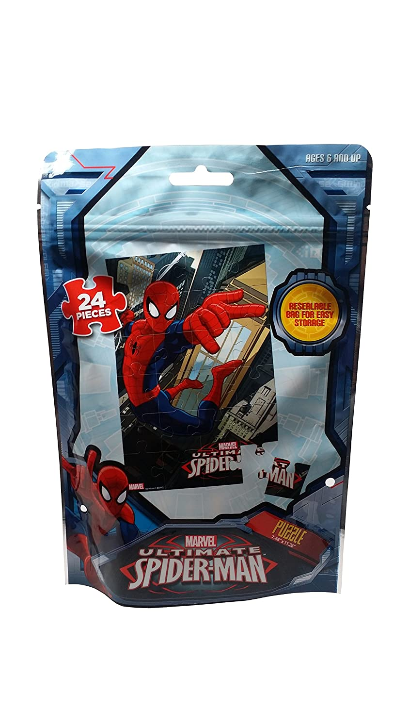 Delightful Amazon.com: Marvel Spiderman Puzzle, 24 Piece In Resealable Bag For Easy  Storage: Toys U0026 Games