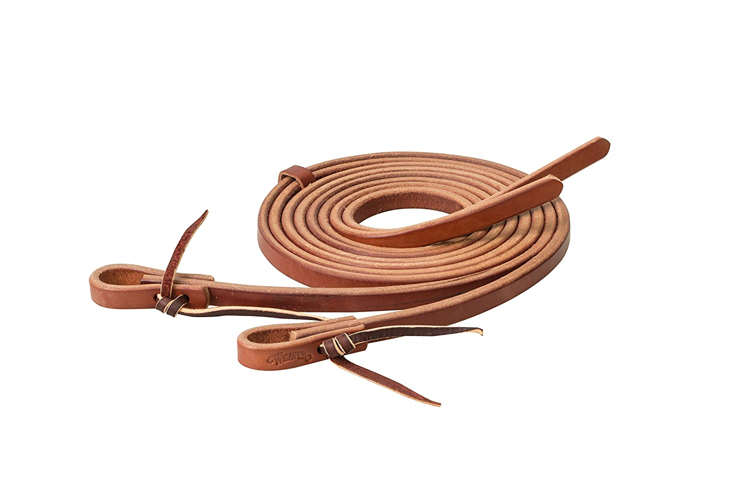Weaver Leather Canyon pink Extra Heavy Harness Split Reins 50-1440, Canyon pink, 5 8  x 7'