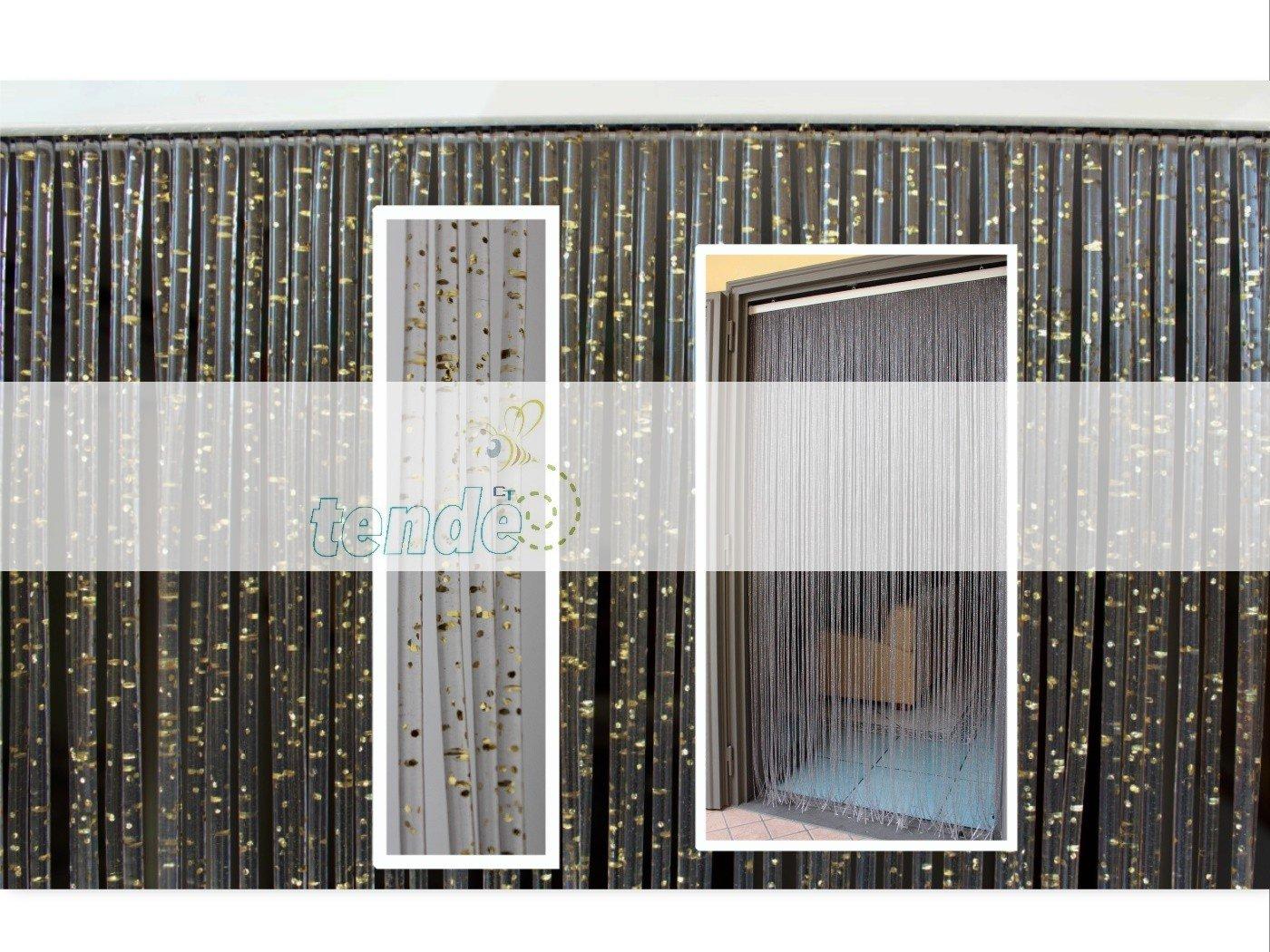 Cirillo Tende PVC-Türvorhänge Modell Diamante - Eichmaß 100X220   120X230   130X240   150X250 - Fliegenvorhang - Kunststoff-Vorhänge (120X230, Silber (2)) B01E772LS0 Transparente Gardinen