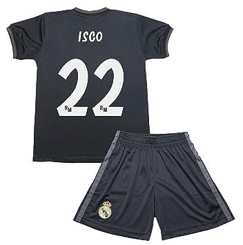 e977c190c Real Madrid Kit Segunda Equipación Infantil ISCO Producto Oficial  Licenciado Temporada 2018-2019  Amazon.es  Deportes y aire libre