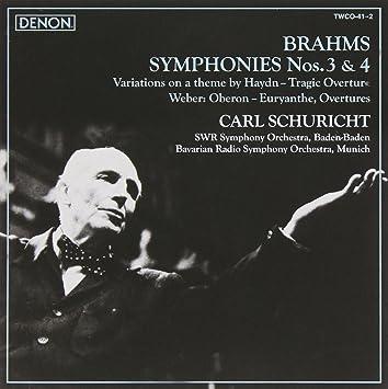 ブラームス:交響曲第3番、第4番、他