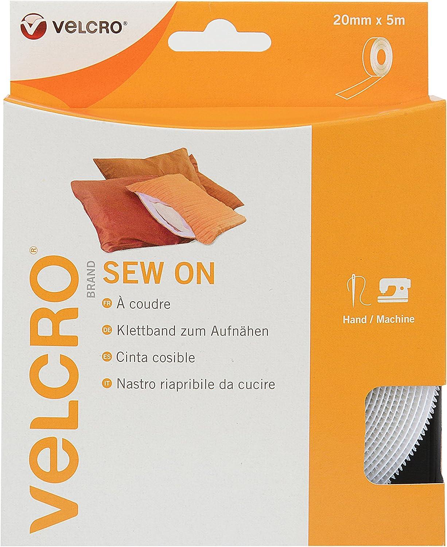 Velcro Marke Band Zum Aufnähen 20 Mm X 5 M Weiß Baumarkt