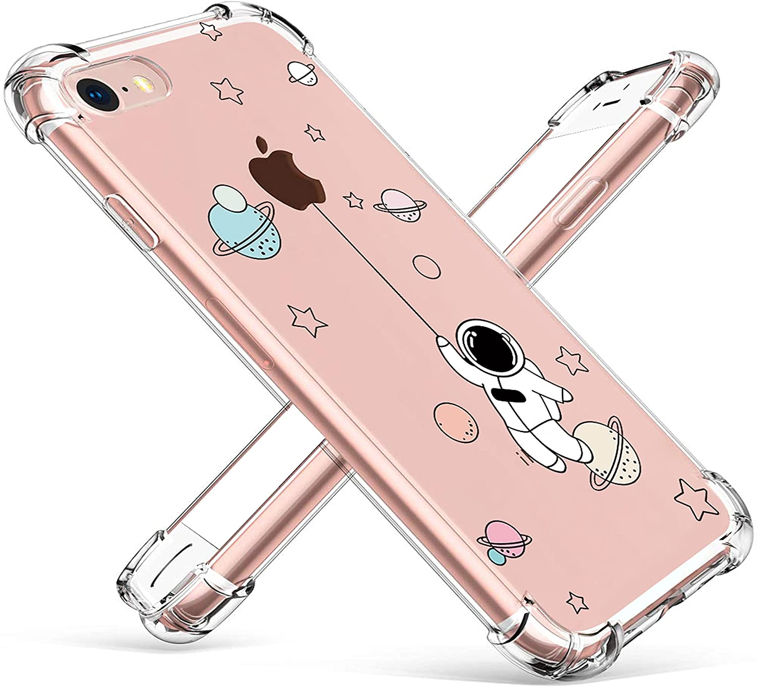 oqpa for iPhone 6 Plus/6S Plus Case Cartoon Character Funny Cute Fun TPU Design Cover for Girls Kids Boys Teen, Fashion Cool Unique Aesthetic Planet Astronaut Cases (for iPhone 6 Plus/6S Plus 5.5