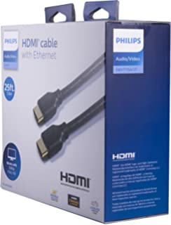 Philips HDMI Cable, Ethernet, 25 Ft HDMI Cable, Full HD 1080P, Surround