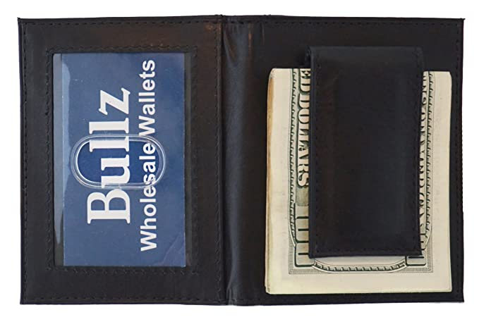 e0f5010c71a28 Image Unavailable. Image not available for. Color  Genuine Leather Front  Pocket Bifold Money Clip Mens Wallet