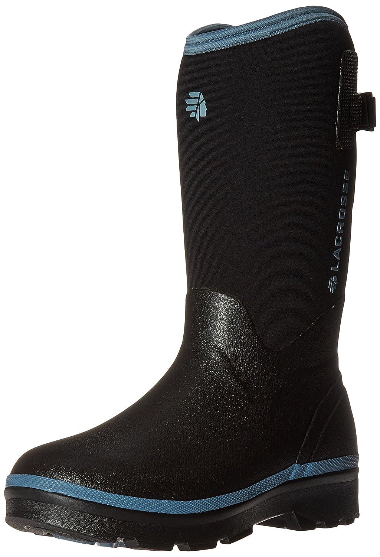 Lacrosse Women's Alpha Range Rain Boot B01COYJEB0 8 B(M) US|Black/Cerulean