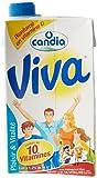 Candia Viva Lait Vitaminé U.H.T Demi Écrémé 1 L - Lot de 2