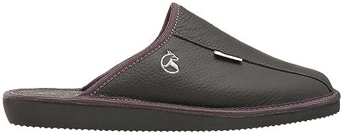 1e13bc6d18d9 ESTRO Mens Slippers Men House Shoes Leather Home Mule Men s Slipper ...