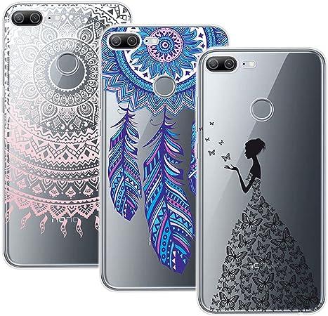Yokata Cover per Huawei Honor 9 Lite Custodia Silicone Gel TPU Trasparente con Disegni Morbido Ultra Sottile Slim Antiurto Protettiva Cover [3 Pack] - ...