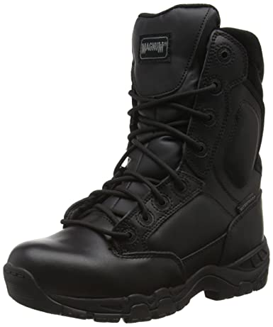 Magnum Viper Pro 8.0 Leather Waterproof, Botas De Trabajo Unisex Adulto, color negro (black 021), talla 37 EU (4 UK)